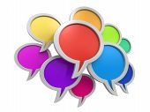 Color speech bubbles (clipping path included)