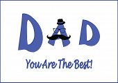 Father's Day Card-best Dad