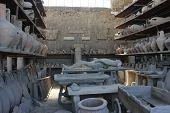 Pompei Roman Amphoras And Petrified Body