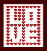 Valentine's day design background. Vector illustration
