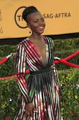LOS ANGELES - JAN 25:  Lupita Nyong'o at the 2015 Screen Actor Guild Awards at the Shrine Auditorium on January 25, 2015 in Los Angeles, CA