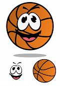 Cartoon basketball ball for mascot design