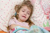 Four-year Girl Cries From Large Temperature