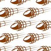 Flying rugby balls in seamless background