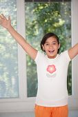 Happy cheerful little girl
