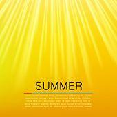 Warm Yellow Sun Beam. Summer Concept. Vector