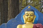 Buddha Statue Fragment In Kathmandu, Nepal