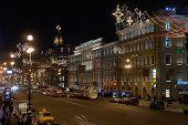 view on nevsky prospect. saint-petersburg. russia