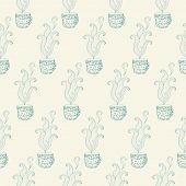 Seamless Pattern With Tea Cups