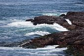 image of pacific rim  - Rock and wave Pacific Rim for background - JPG