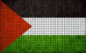 Abstract Mosaic Flag of Palestine
