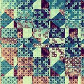 Rough vintage texture. With different color patterns: brown; gray; blue; cyan