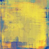 Old abstract grunge background, aged retro texture. With different color patterns: yellow (beige); brown; blue; cyan