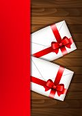 Valentine's Day Greeting Letters With Red Bow
