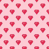 Red diamonds on pink background seamless pattern.
