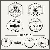 Vintage Insignias And Logotypes Set.