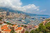 image of hercules  - View of famous Hercules Port and surrounding buildings in Monte carlo - JPG