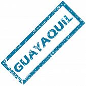 stock photo of guayaquil  - Vector blue rubber stamp with city name Guayaquil - JPG