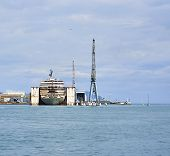 picture of shipyard  - GENOA ITALY  - JPG