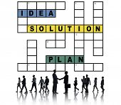 pic of scrabble  - Solution Ideas Plan Solving Result Crossword Concept - JPG