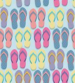 pic of flat-foot  - Seamless pastel colorful flip flops pairs pattern illustration in flat design style - JPG