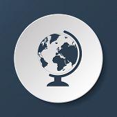 stock photo of geography  - geography school earth globe web icon - JPG