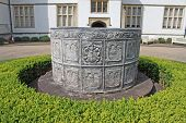 foto of cistern  - ancient lead water cistern at St Fagans Castle - JPG