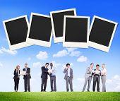 picture of polaroid  - Polaroid Paper Instant Camera Photography Media Concept - JPG