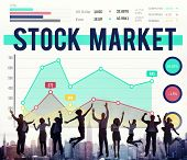 picture of stock market data  - Stock Market Economy Finance Forex Shares Concept - JPG