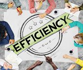 stock photo of efficiencies  - Efficiency Improvement Mission Motivation Development Concept - JPG