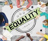 stock photo of equality  - Equality Balance Discrimination Equal Moral Concept - JPG