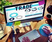 image of barter  - Trade Merchandise Import Export Commerce Concept - JPG