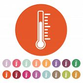 image of fahrenheit thermometer  - The thermometer icon - JPG