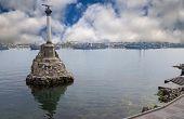picture of crimea  - Russian warship in the Bay Sevastopol Crimea - JPG