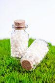 stock photo of placebo  - Homeopathy  pills - JPG