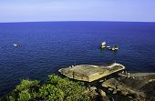 picture of grandfather  - View point at grandfather grandmother rock Koh Samui island - JPG