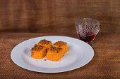 stock photo of carrot  - carrot dessert - JPG