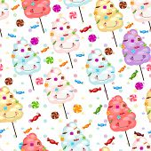 image of lollipops  - Baby gift seamless background of cotton candy candy - JPG