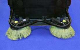 picture of sweeper  - The Brushes of a Motorised Road Sweeper Vehicle - JPG
