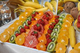 image of carving  - Carved fruits arrangement - JPG