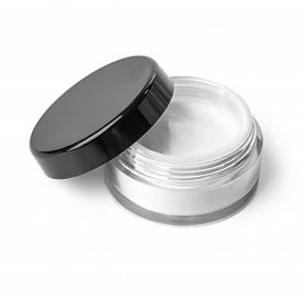 stock photo of gels  - Blank Cosmetic Container for Cream Powder or Gel with clipping path - JPG