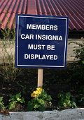 Sign, Members.Insignia Must Be Displayed