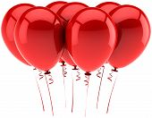 Seven red balloons