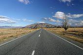 Open empty road. New Zealand