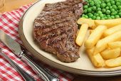 Chargrilled sirloin steak dinner