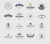 ������, ������: Vintage Logos Design Templates Set Vector design elements Logo Elements