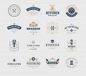 Постер, плакат: Vintage Logos Design Templates Set Vector design elements Logo Elements