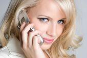 Beautiful Blond Woman on Phone