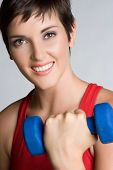 foto of workout-women  - Happy Woman Exercising - JPG