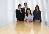 Porträt von vier Business-Profis